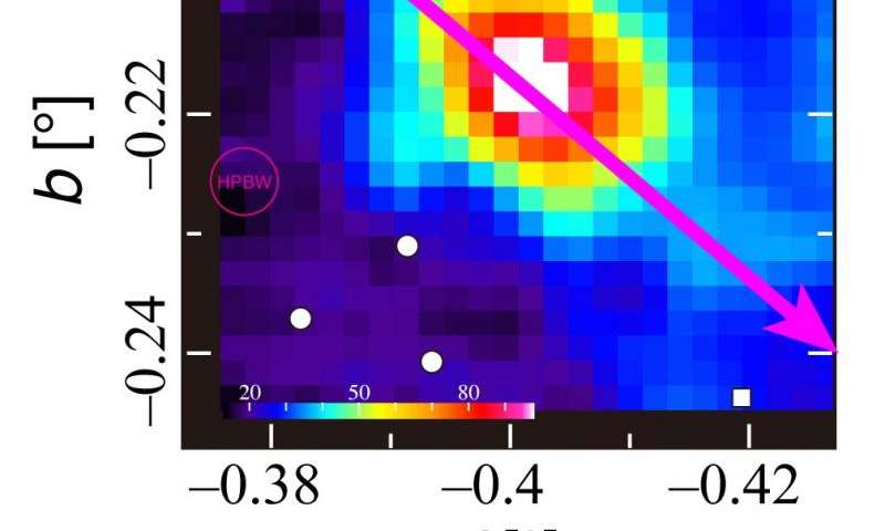 Signs of second largest black hole in the Milky Way: Possible missing link in black hole evolution