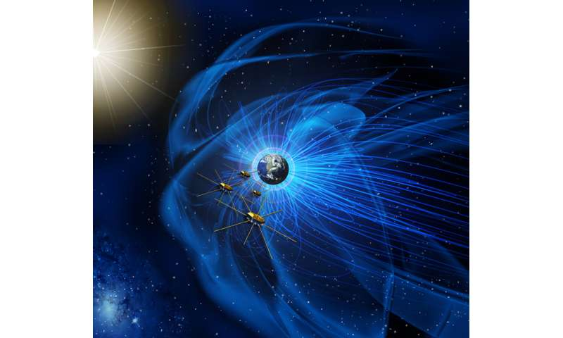 Space mission first to observe key interaction between magnetic fields of Earth and sun