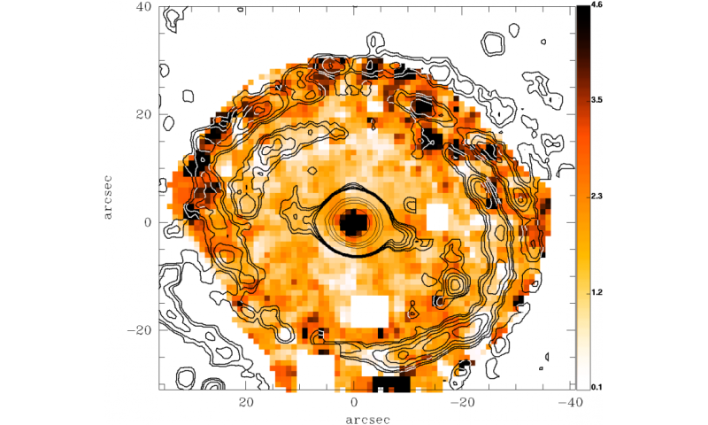 Spiral-like patterns of star formation discovered in old galaxies