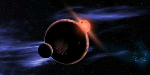 This artist's conception released February 6, 2013 courtesy of NASA shows a hypothetical planet with two moons orbiting in the h