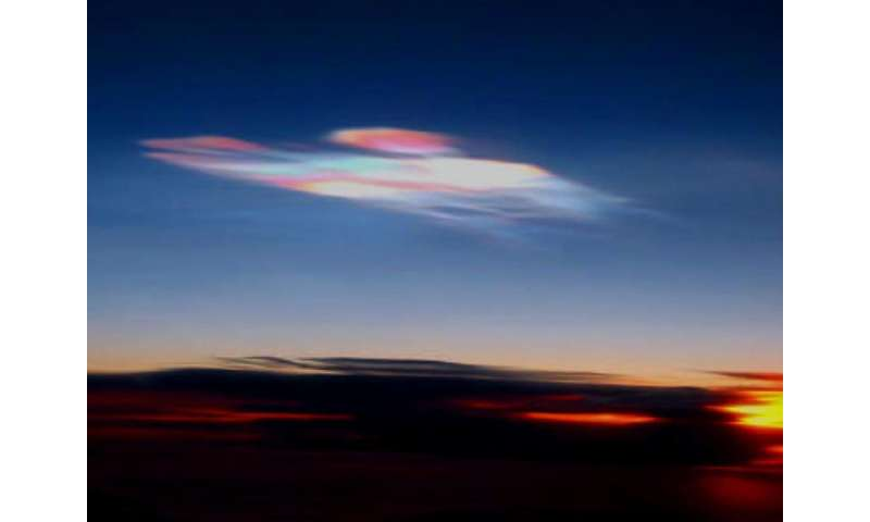 What are the 'nacreous clouds' lighting up the winter skies?