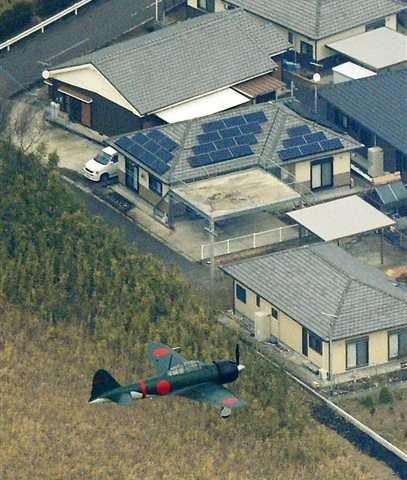 Zero fighter flies over Japan for 1st time since WWII
