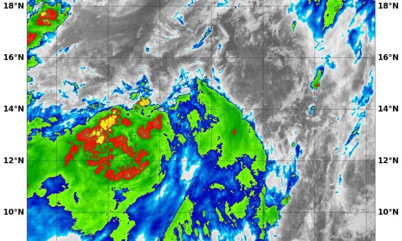 NASA satellite spots new tropical depression in Northwestern Pacific Ocean