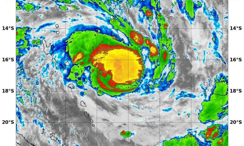 NASA sees Tropical Cyclone Winston form