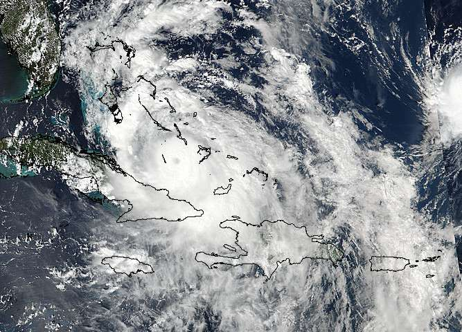 NASA sees Hurricane Matthew moving through the Bahamas