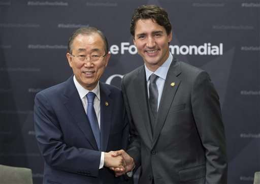 Trudeau, Gates raise billions for AIDS, TB and malaria fight
