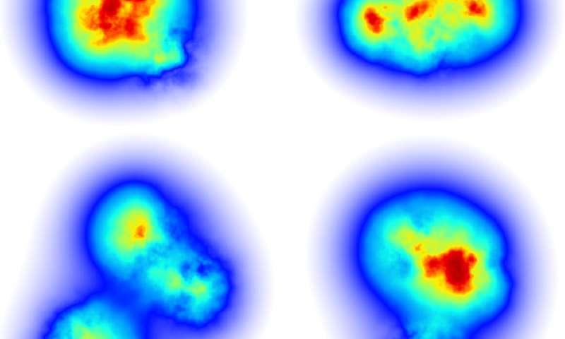 Scientists model the 'flicker' of gluons in subatomic smashups