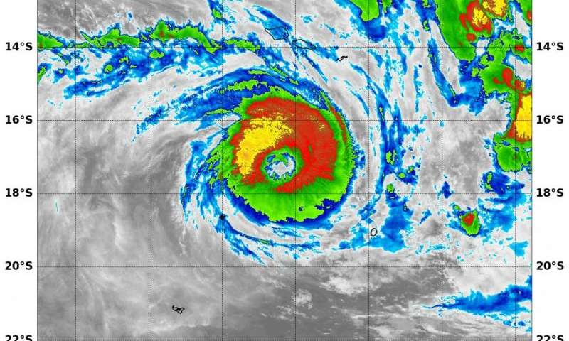 NASA sees Tropical Cyclone Winston U-turn toward Fiji