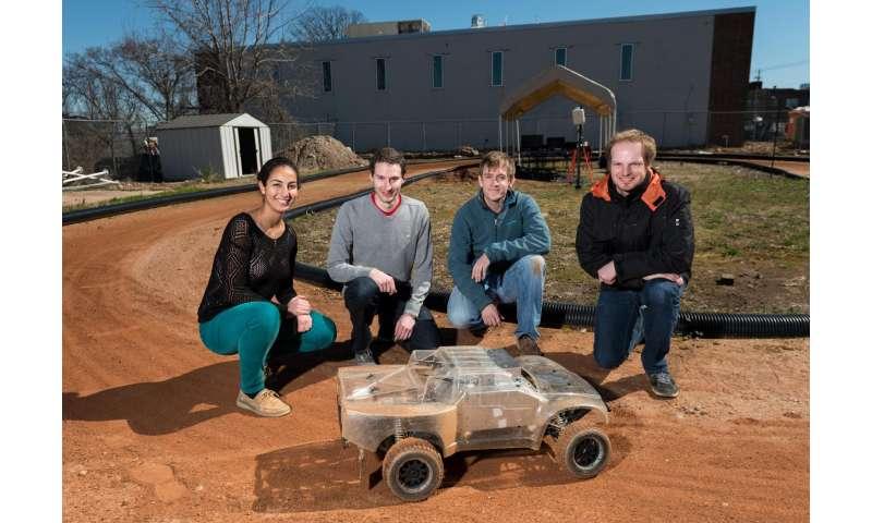 New technique controls autonomous vehicles on a dirt track