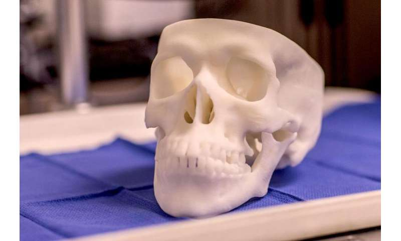3-D printed skulls prepare new doctors while promoting world-class health care