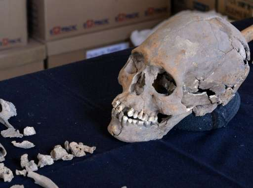 Archeologists who found the 1,600-year-old skeleton near Mexico's ancient Teotihuacan, said the woman was 35-40 when she died wi