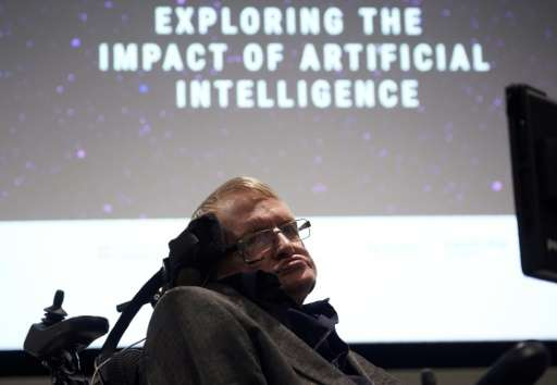 British scientist Stephen Hawking arrives to attend the launch of The Leverhulme Centre for the Future of Intelligence (CFI), at