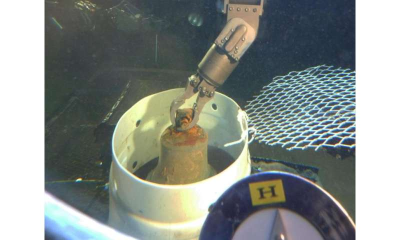 Bronze bell recovered from World War II aircraft-carrying submarine off Oahu coast