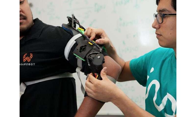 Exoskeleton for rehabilitation of specific body parts