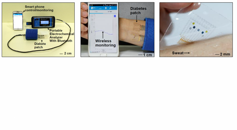 IBS Creates a wearable graphene-based biomedical device to monitor and combat diabetes