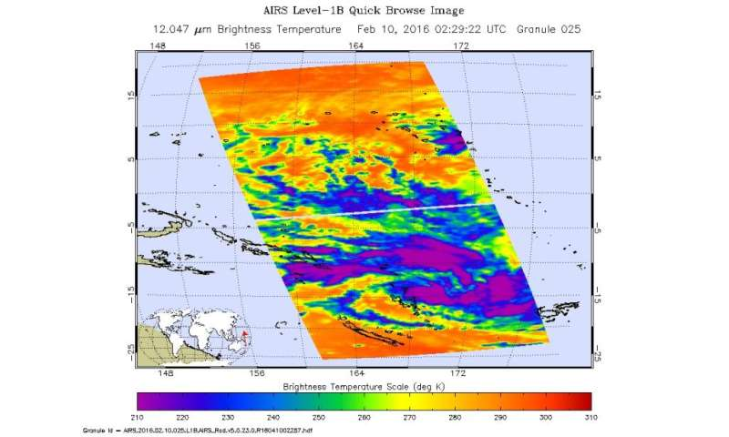 NASA sees development of Tropical Storm 11P in Southwestern Pacific