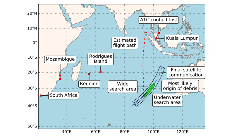 New study reveals where MH370 debris more likely to be found