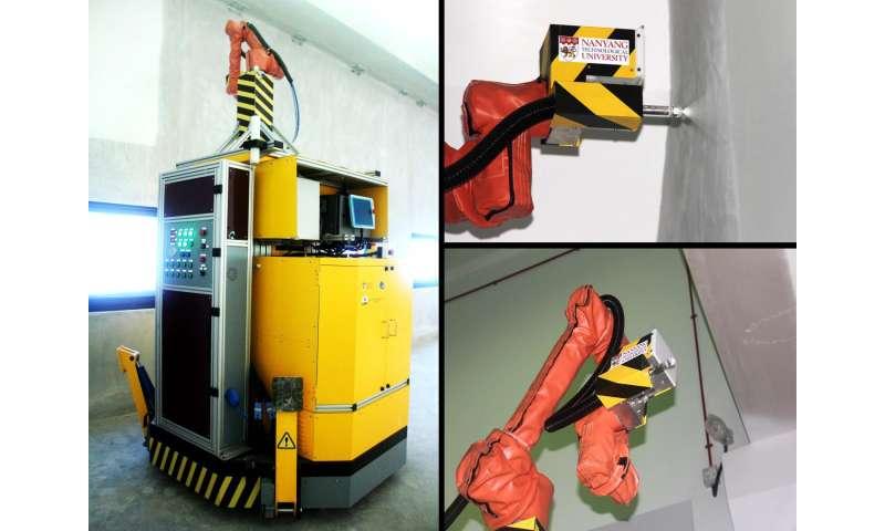 ntu singapore 39 s robot to spray paint jtc 39 s industrial developments. Black Bedroom Furniture Sets. Home Design Ideas