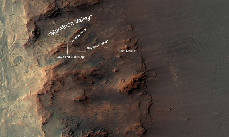 Opportunity rover to explore Mars gully