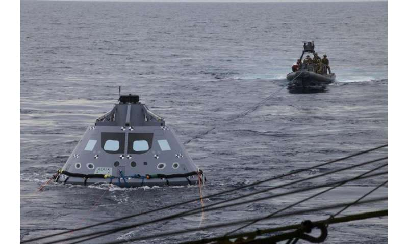 Orion crew module underway recovery testing