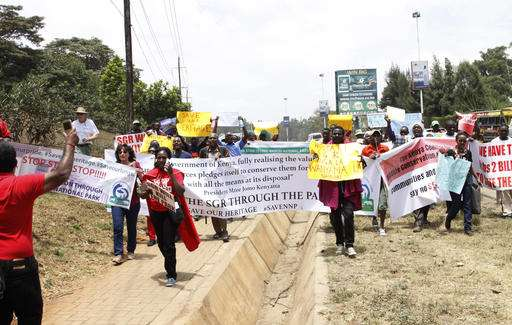 Protest targets rail line over Kenya's oldest wildlife park