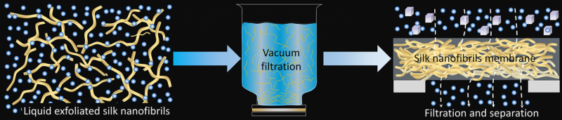 Silk-based filtration material breaks barriers