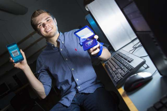 Student develops fingerprint-based authentication app