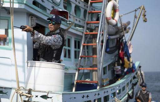 Thai Navy shows off technology to fight fishing abuses