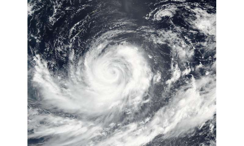 Typhoon Lionrock threatening Japan