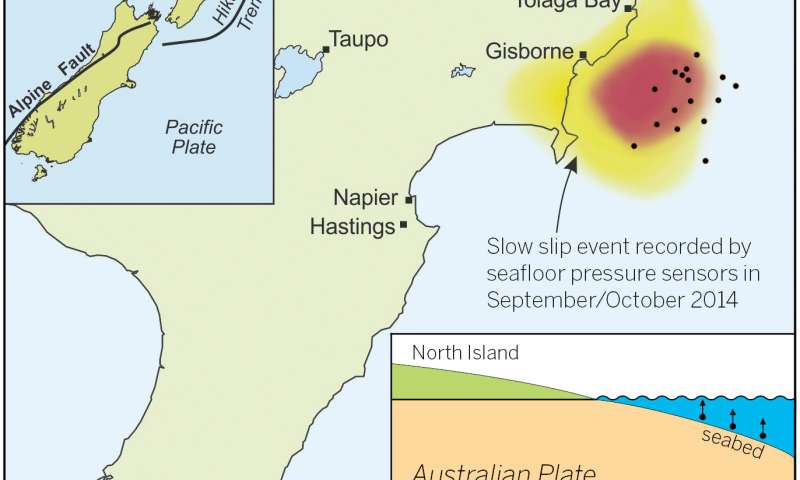 World's shallowest slow-motion earthquakes detected offshore of New Zealand