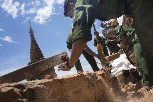Quake damages scores of Myanmar's heritage Bagan temples
