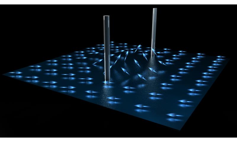 Researchers discovered elusive half-quantum vortices in a superfluid