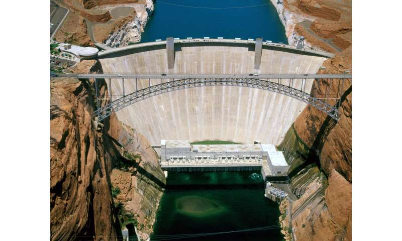 Aerial View of Glen Canyon Dam