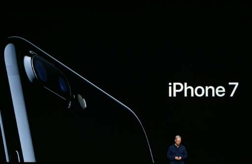 Apple CEO Tim Cook introduces the new iPhone 7 during an event inside Bill Graham Civic Auditorium in San Francisco, California