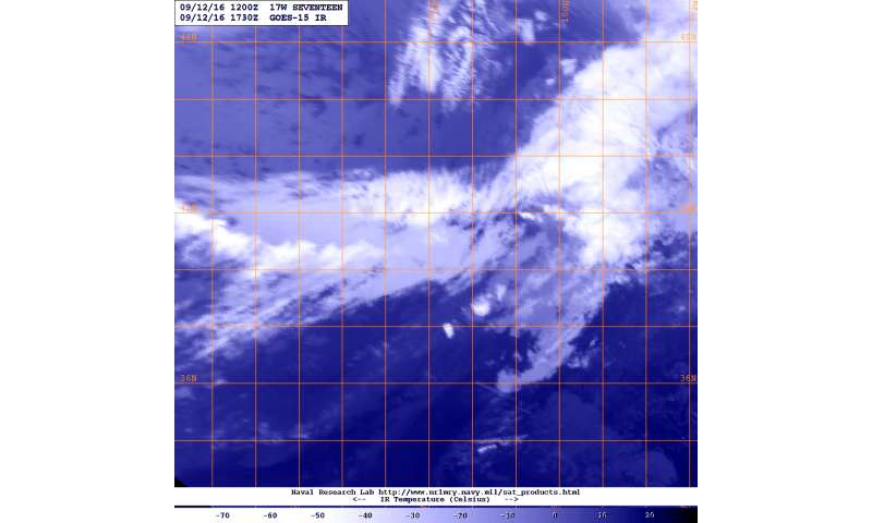 NASA catches the short life of Tropical Depression 17W