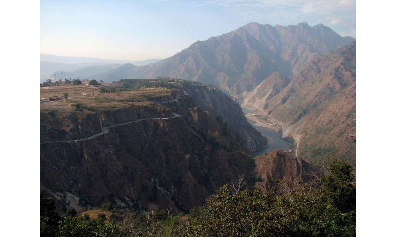 New study finds major earthquake threat from the Riasi fault in the Himalayas