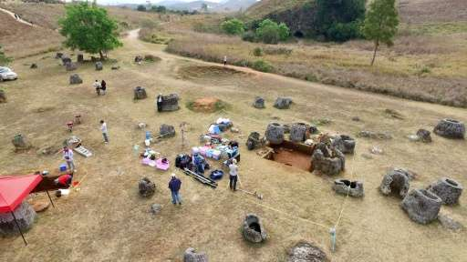 Archaeologists have struggled to access the Plain of Jars in Laos, many areas of which have yet to be cleared of unexploded mine