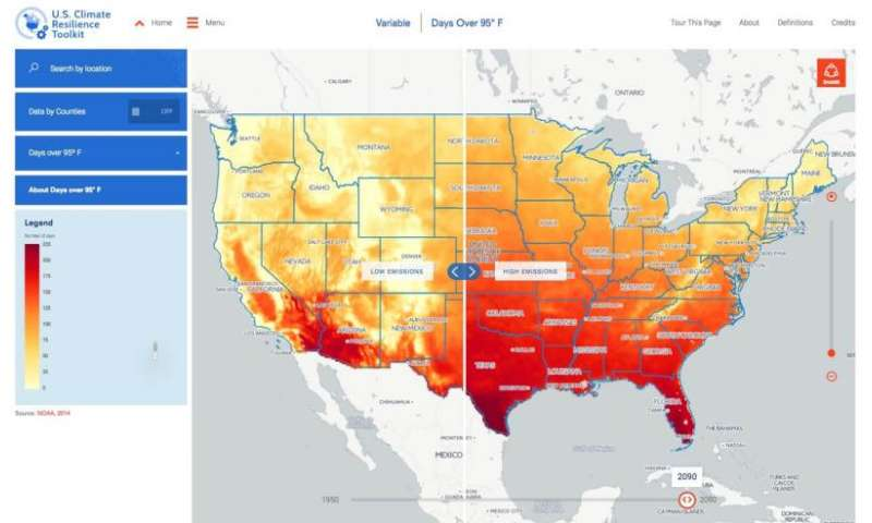 Climate change in your county—plan with this new tool