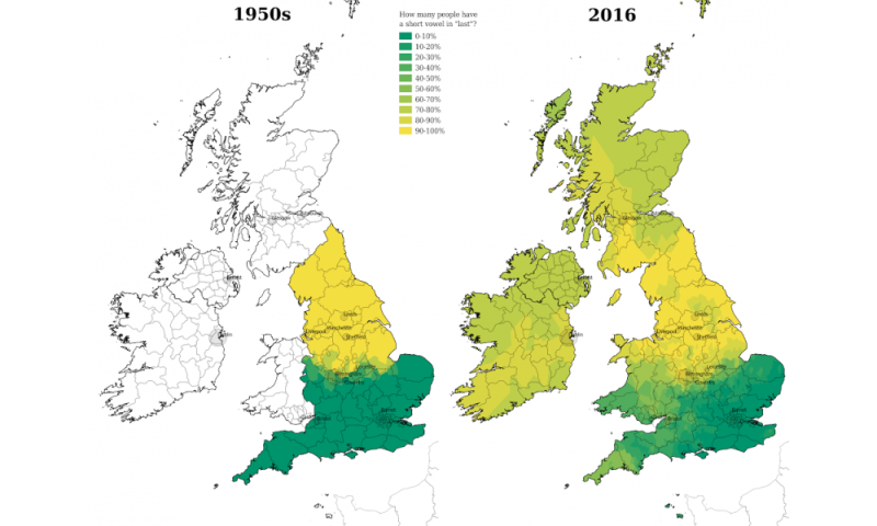 App maps the decline in regional diversity of English dialects