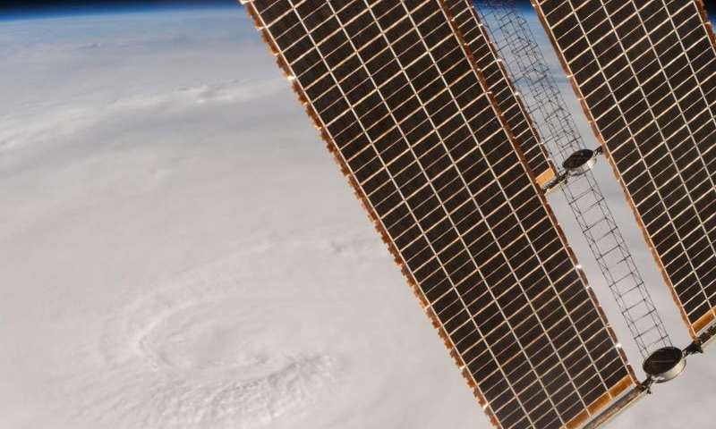 Image: Space station flyover of Hurricane Matthew