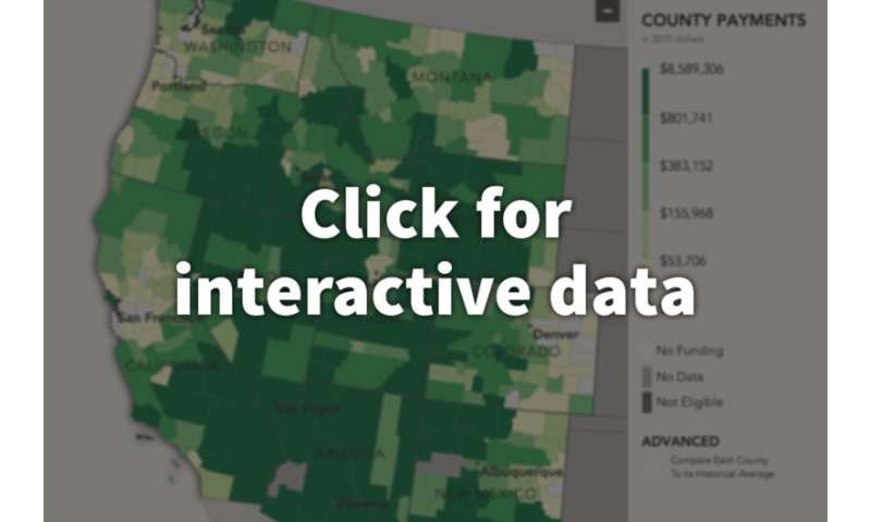 New interactive website presents unexamined data on federal programs that aid local governments in the American West