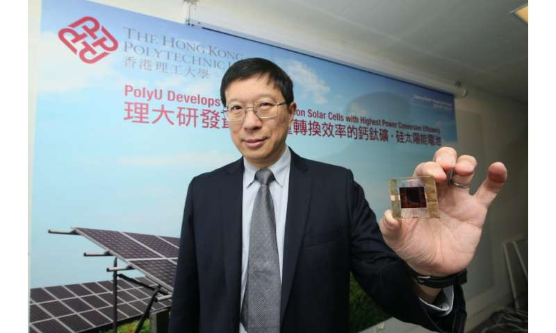 PolyU develops solar cells with highest power conversion efficiency