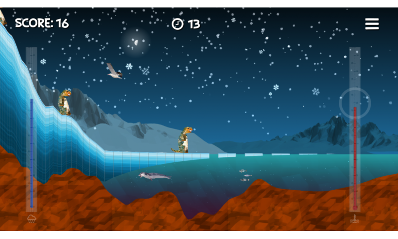 Scientists develop interactive game demonstrating impact of climate change on the Antarctic