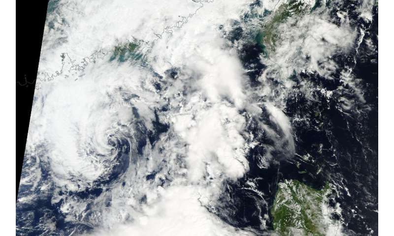 NASA sees Tropical Depression Aere dissipating