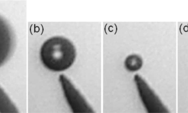 Researchers immobilize underwater bubbles