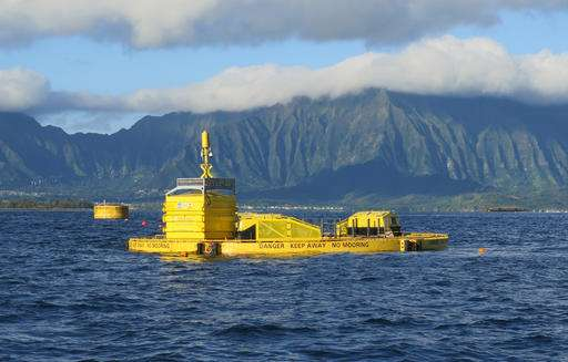 America's first wave-produced power goes online in Hawaii