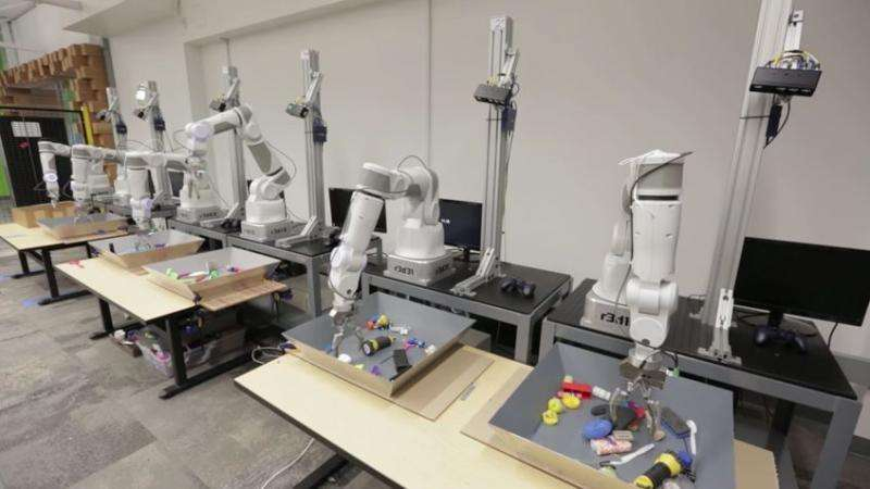 Google unveils progress in robot that learns how to pick up objects using neural-network