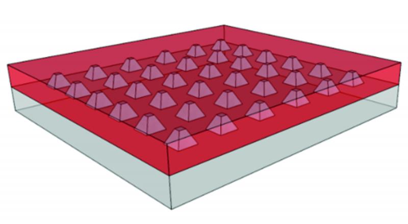 Field of metal nanopyramids
