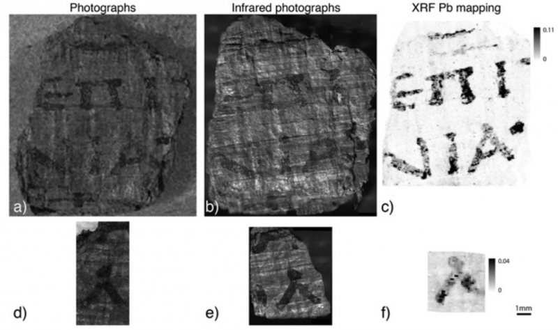 Lead found in ink used to write scrolls buried by eruption of Mount Vesuvius