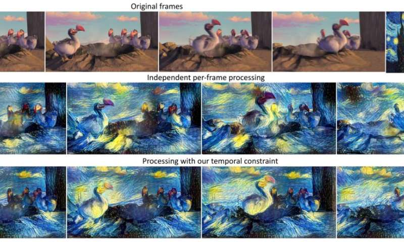Neural networks allow classic painting styles to be applied to modern video